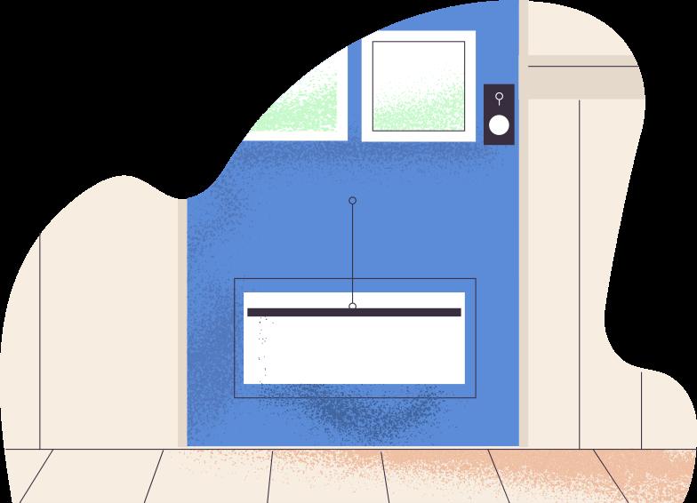 floor and door Clipart illustration in PNG, SVG