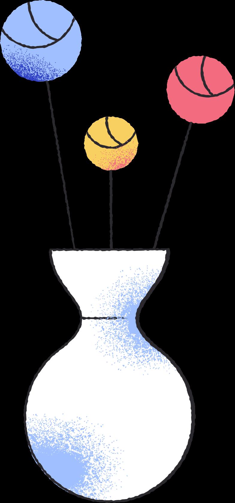 roses in vase Clipart illustration in PNG, SVG