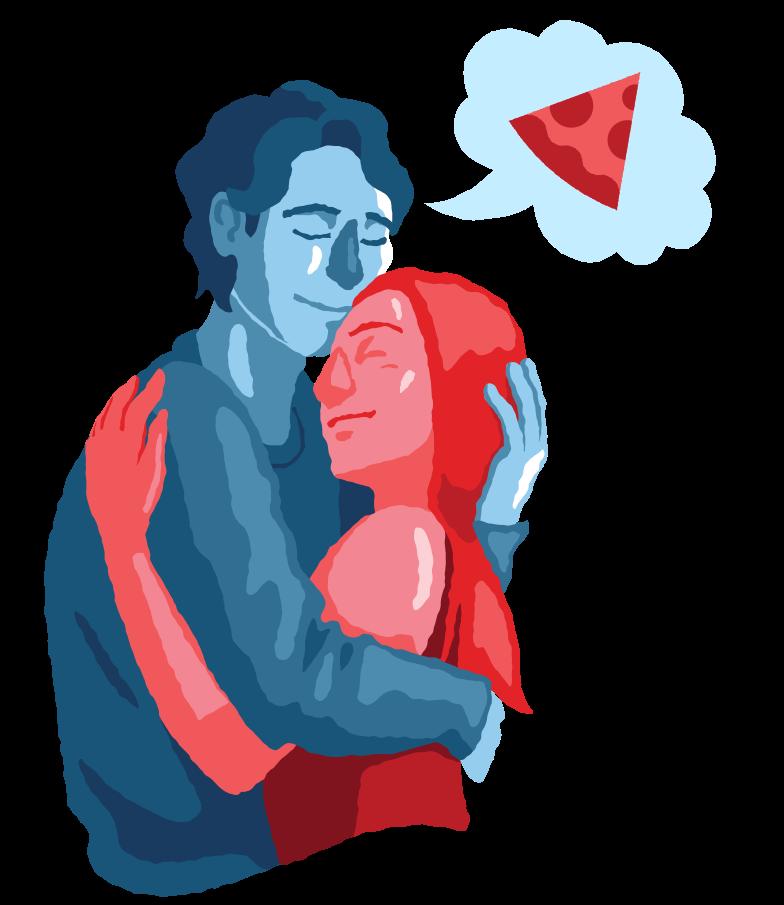 Imágenes vectoriales Pensando en la pizza en PNG y SVG estilo  | Ilustraciones Icons8