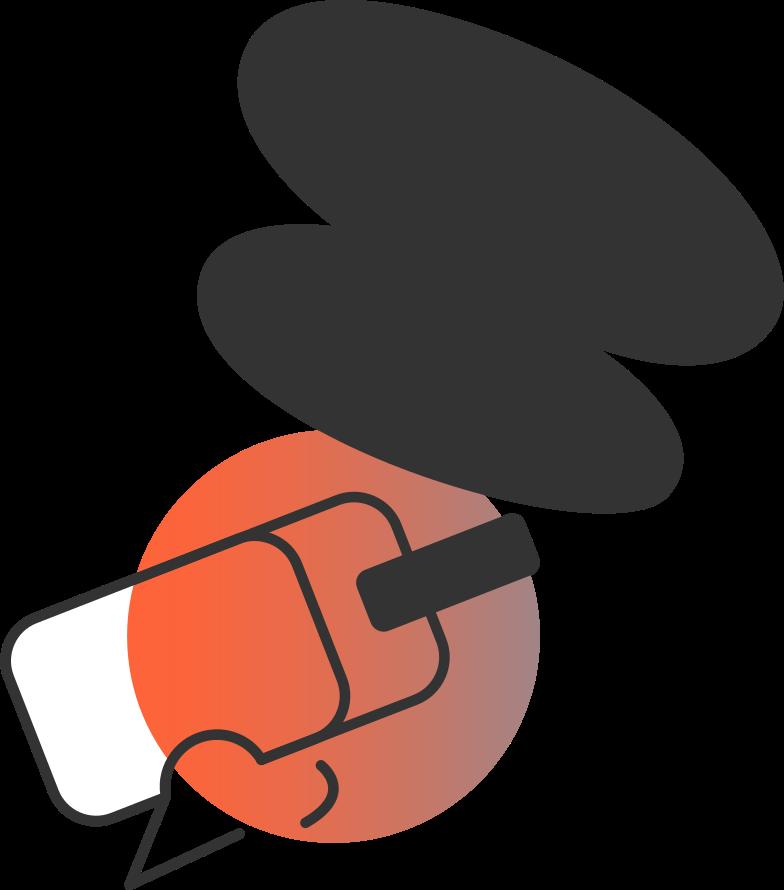 Vr head mit virtual-reality-headset vr Clipart-Grafik als PNG, SVG