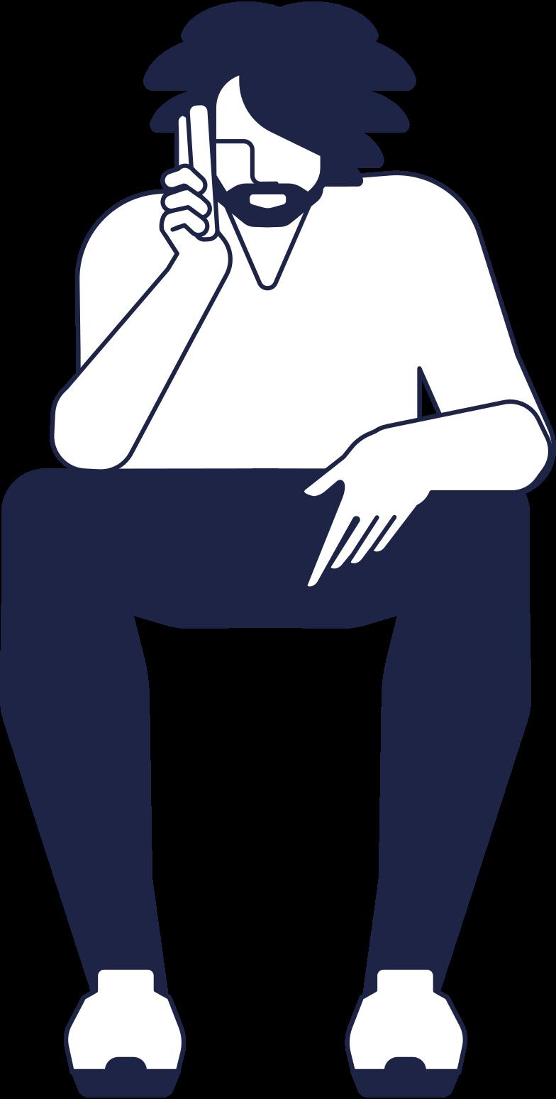 man 1 line Clipart illustration in PNG, SVG
