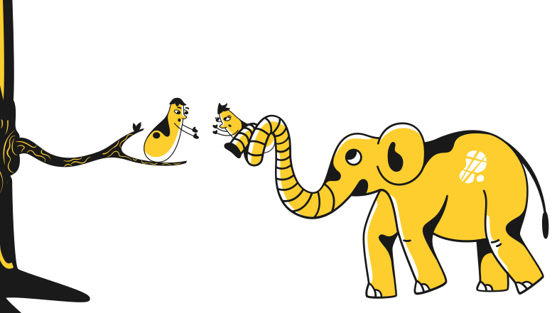 Help to reunite Clipart illustration in PNG, SVG