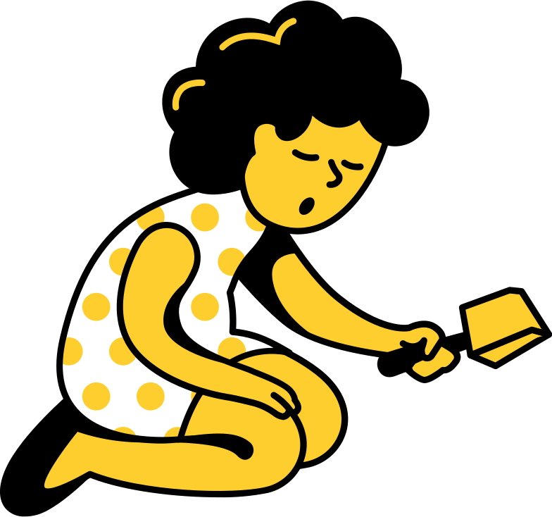 kid with scoop Clipart illustration in PNG, SVG