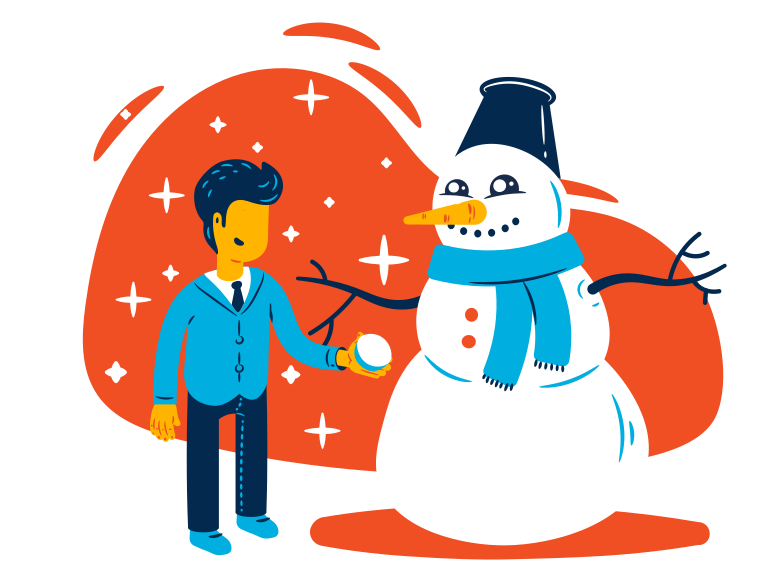Winter holidays during pandemic Clipart illustration in PNG, SVG