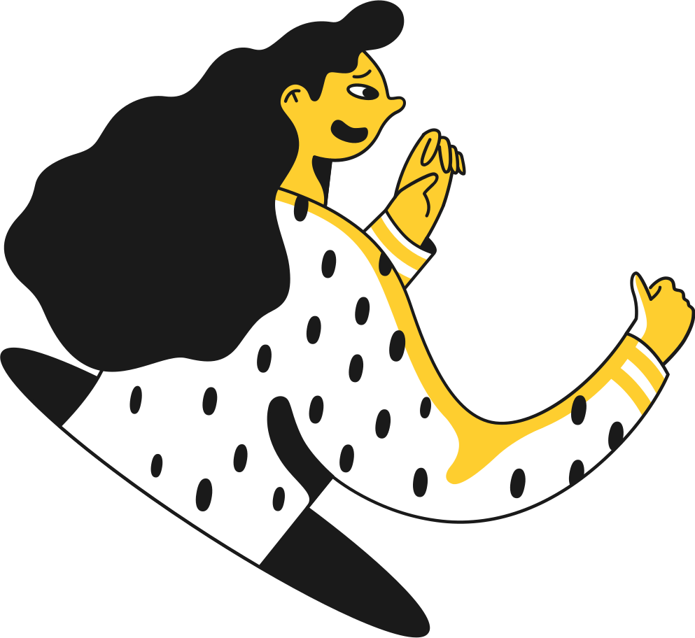 girl talking to hand Clipart illustration in PNG, SVG