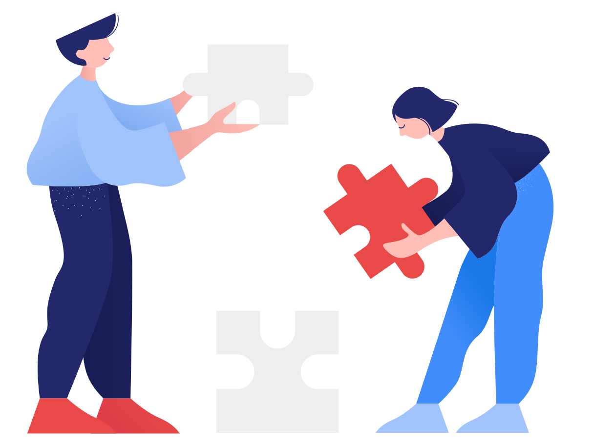 Collaborate work Clipart illustration in PNG, SVG
