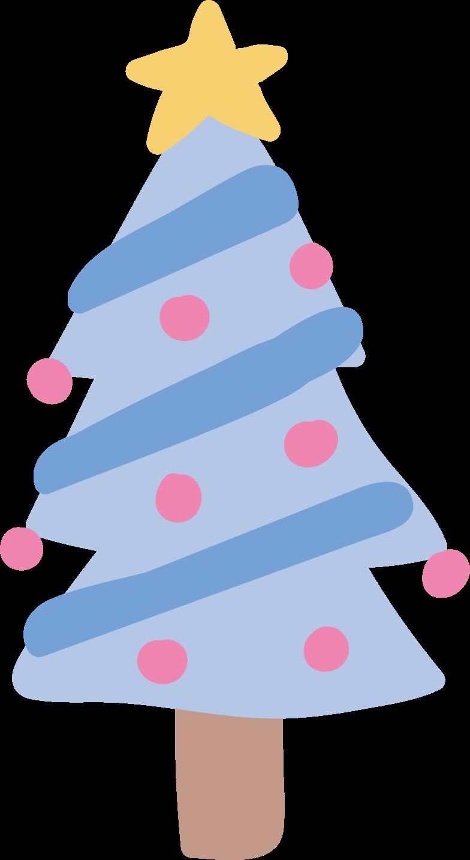 Ilustración de clipart de Árbol de navidad en PNG, SVG