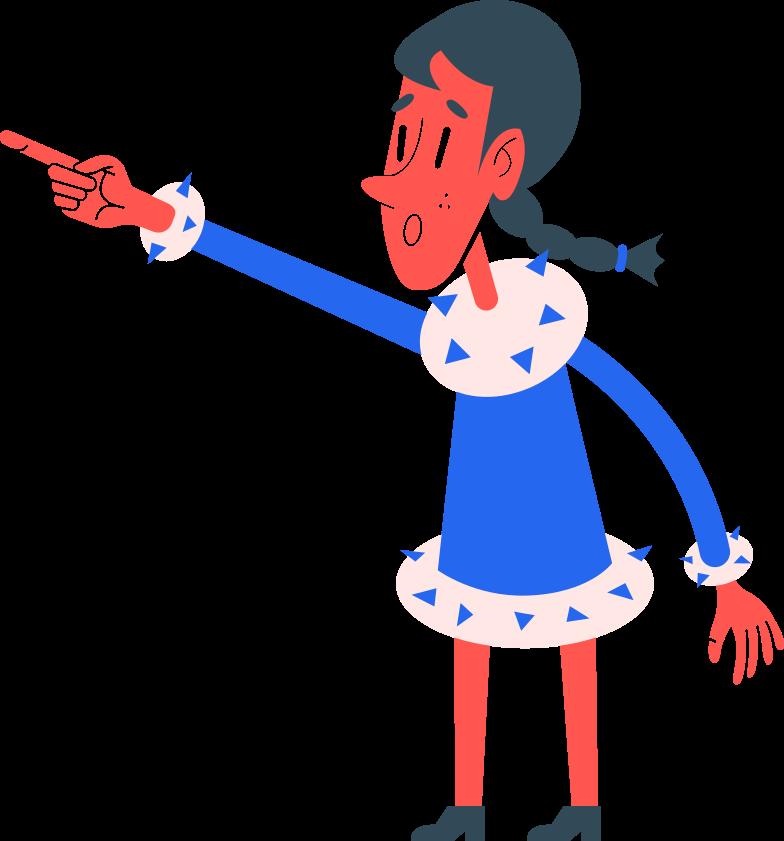 girl shows Clipart illustration in PNG, SVG