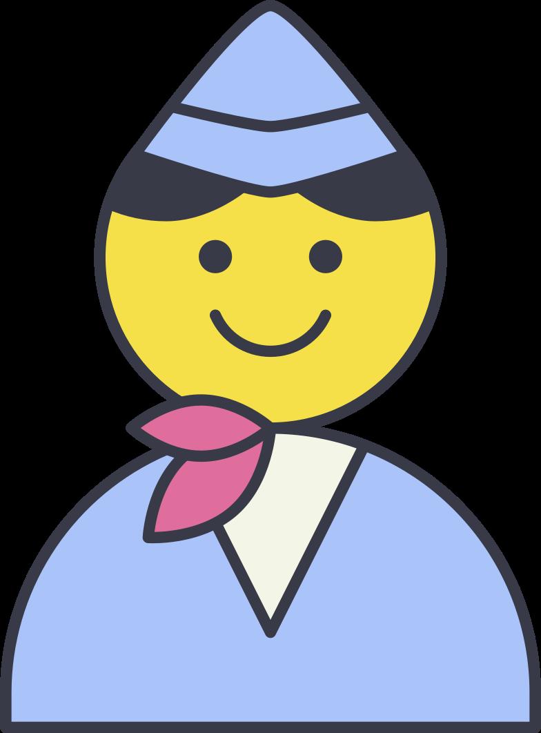 stewardess Clipart illustration in PNG, SVG