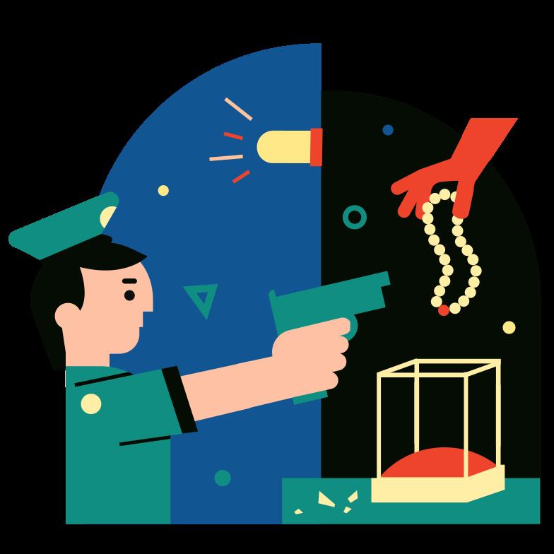 世紀の盗難 のPNG、SVGクリップアートイラスト