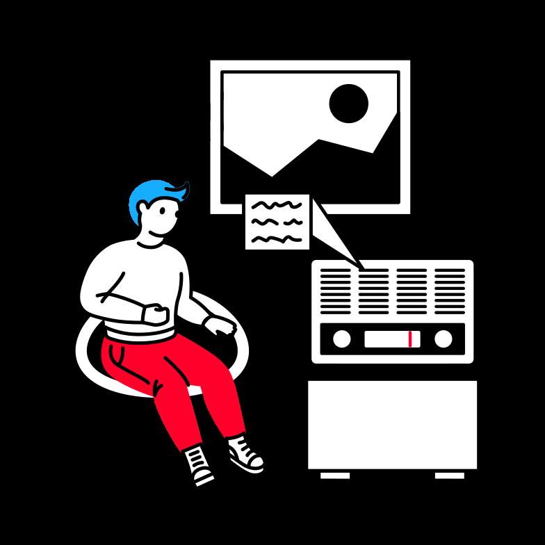 Mass media Clipart illustration in PNG, SVG