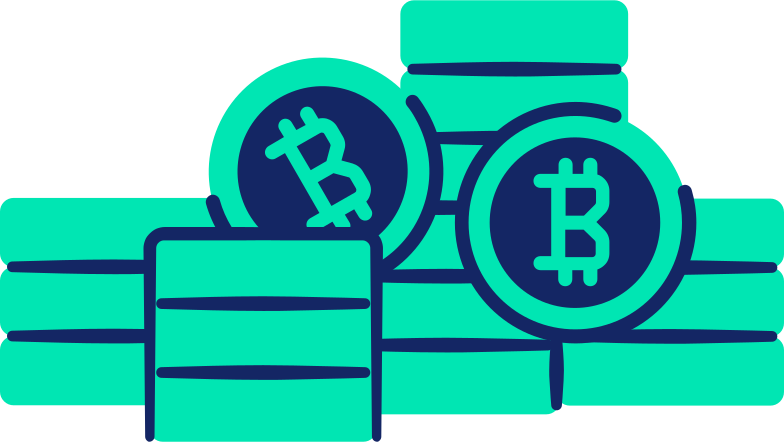 bitcoins Clipart illustration in PNG, SVG