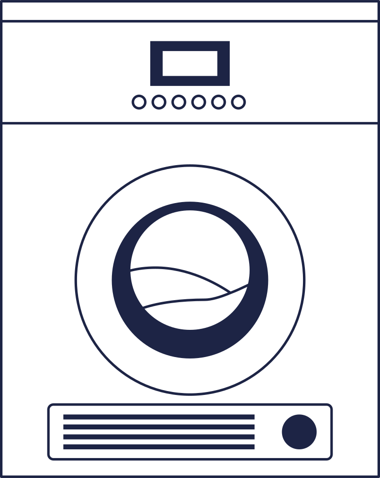 come back later  washer 1 line Clipart illustration in PNG, SVG