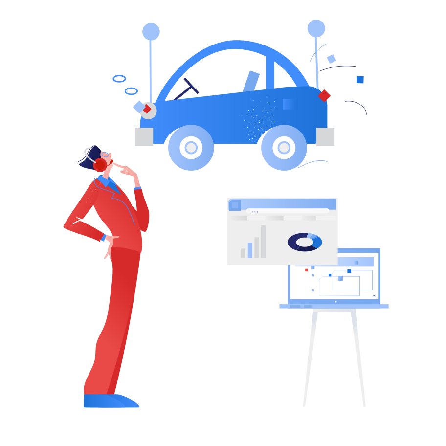 Vehicle inspection Clipart illustration in PNG, SVG