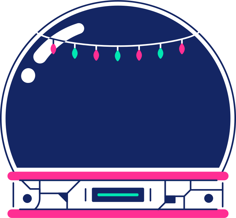 style snow globe with garland Vector images in PNG and SVG | Icons8 Illustrations