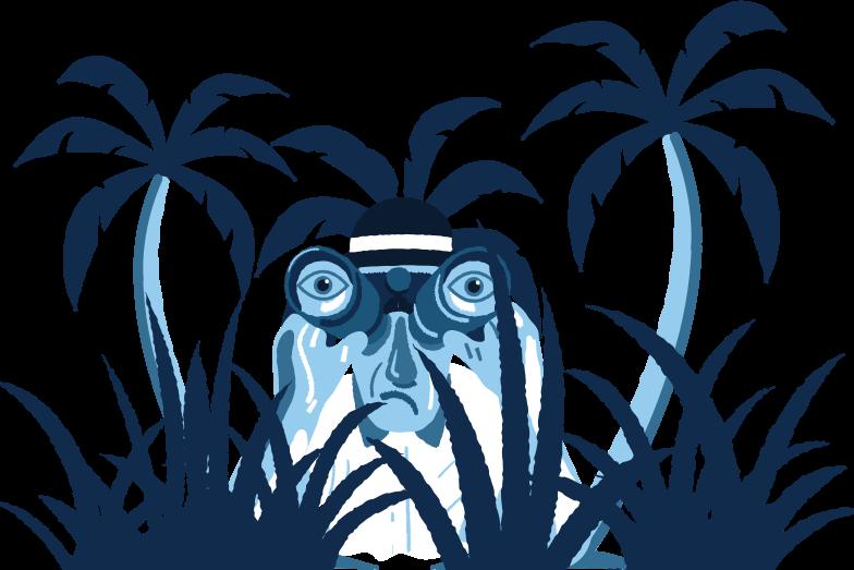 Иллюстрация Шпионаж из кустов в стиле  в PNG и SVG | Icons8 Иллюстрации