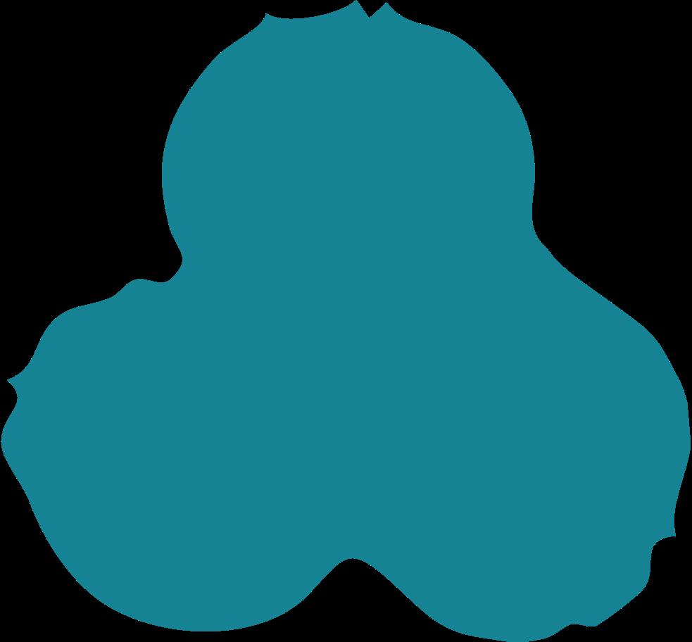 trefoil Clipart illustration in PNG, SVG