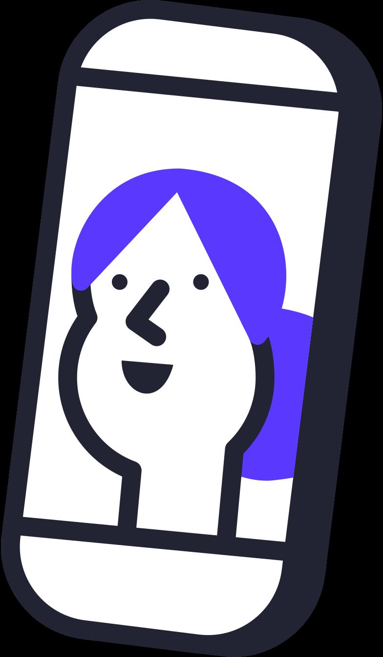 telefon mit frauengesicht Clipart-Grafik als PNG, SVG