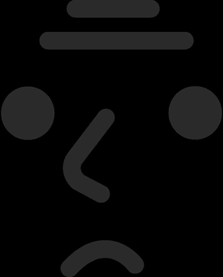 old sad face Clipart illustration in PNG, SVG