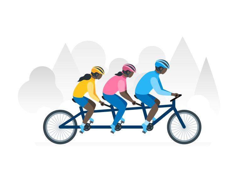Teamwork Clipart illustration in PNG, SVG