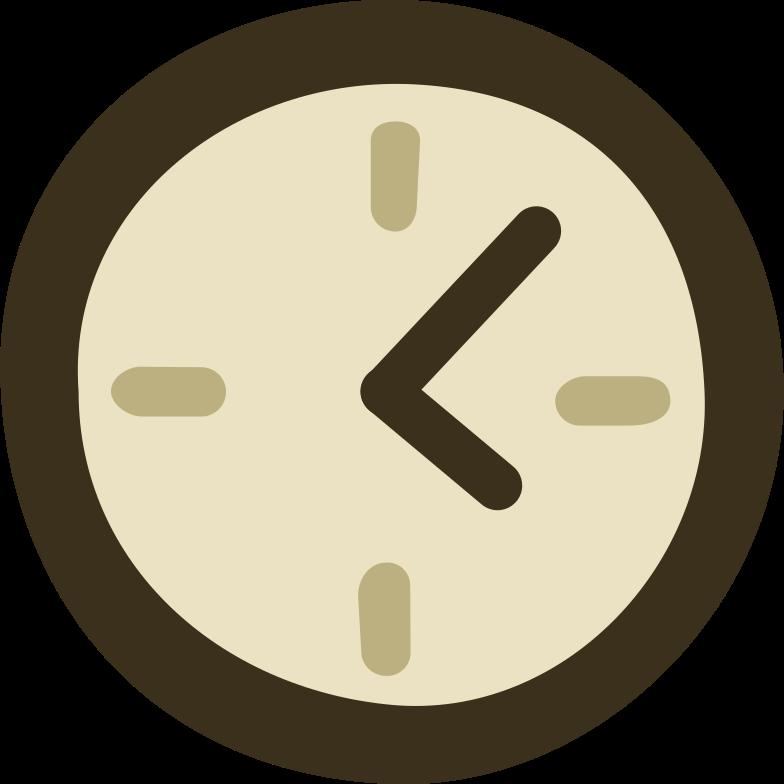Illustration clipart clock aux formats PNG, SVG