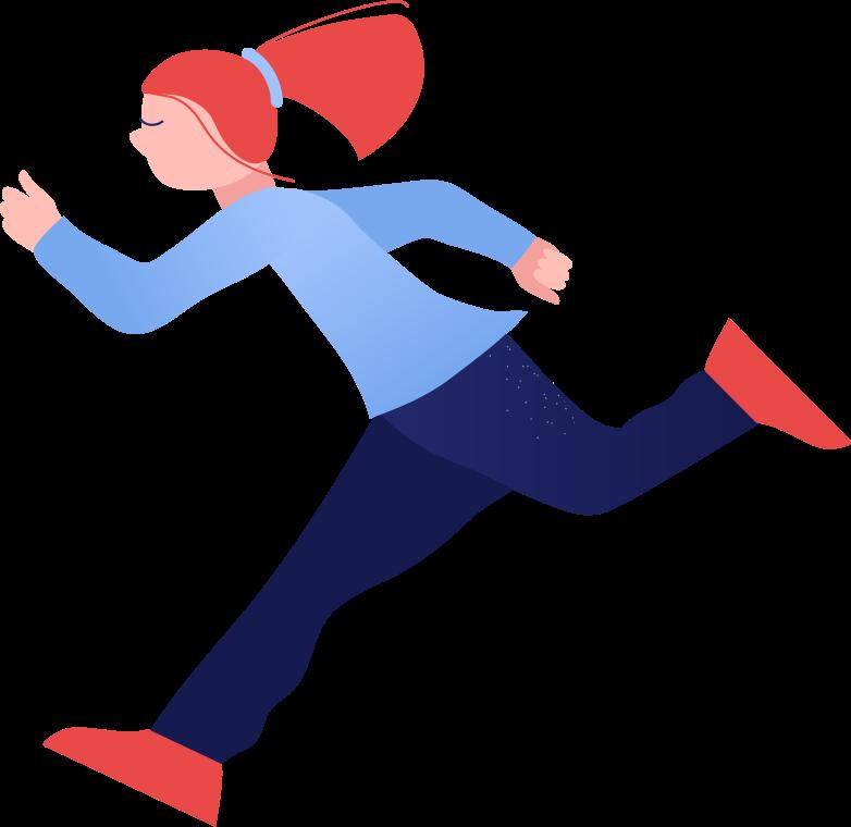 girl running Clipart illustration in PNG, SVG