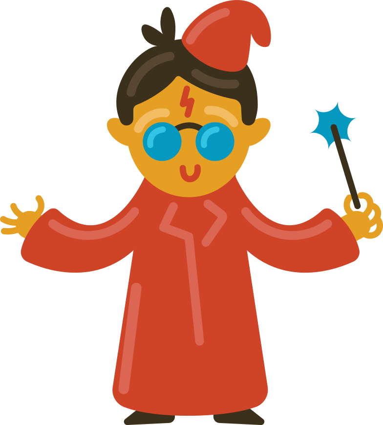 wizard student Clipart illustration in PNG, SVG