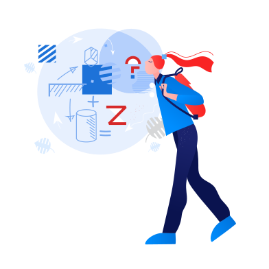 style Student thinking about mathematics images in PNG and SVG | Icons8 Illustrations