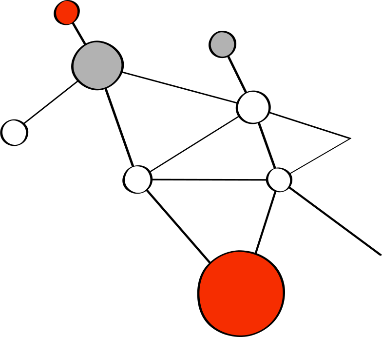 diagram of the molecule Clipart illustration in PNG, SVG