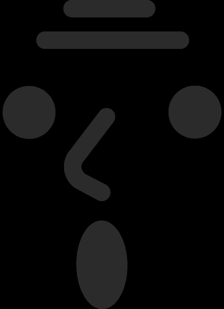 old surprised face Clipart illustration in PNG, SVG