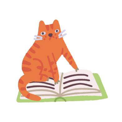 style Cat is reading images in PNG and SVG | Icons8 Illustrations