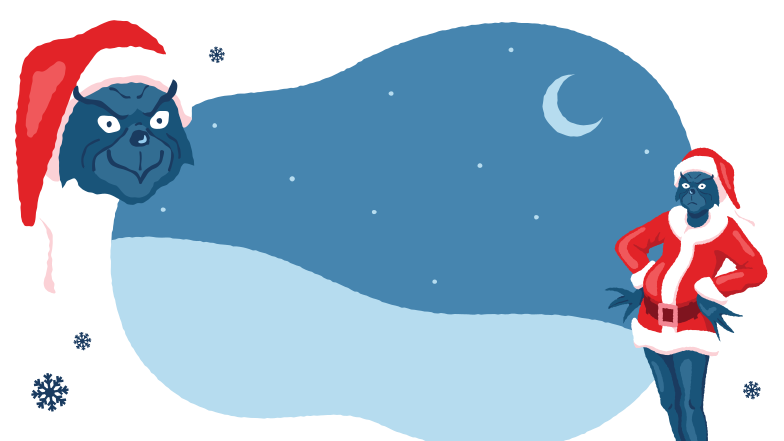 Grinch Clipart illustration in PNG, SVG