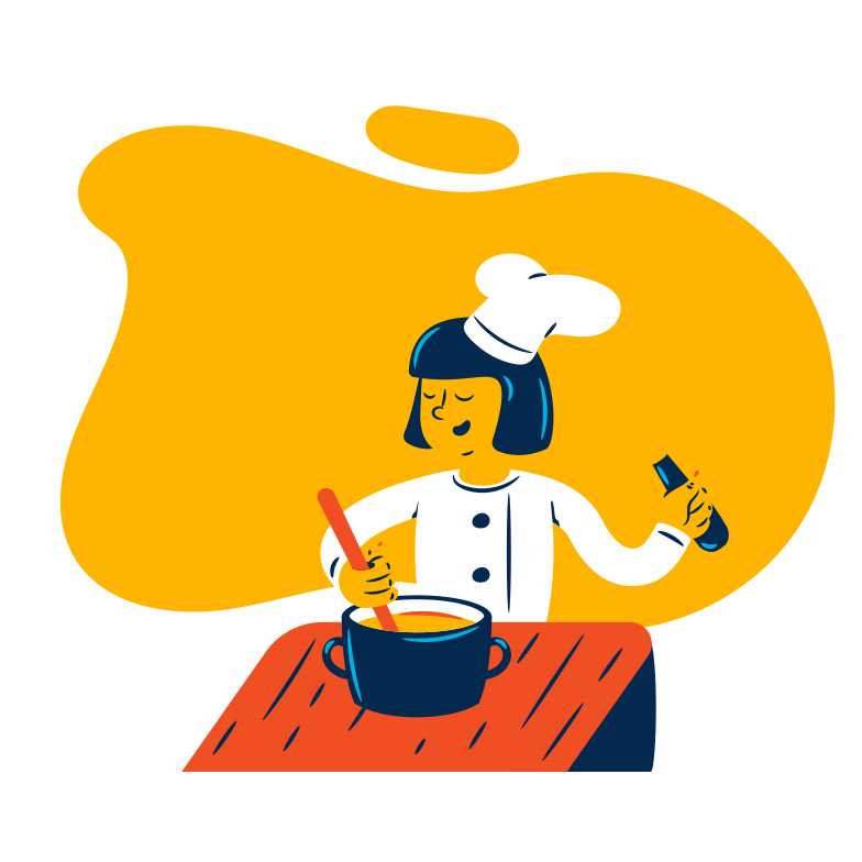 Cook is making soup Clipart illustration in PNG, SVG