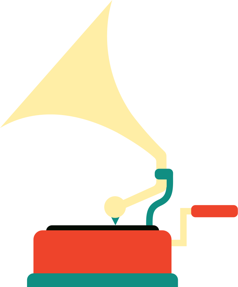 gramophone Clipart illustration in PNG, SVG