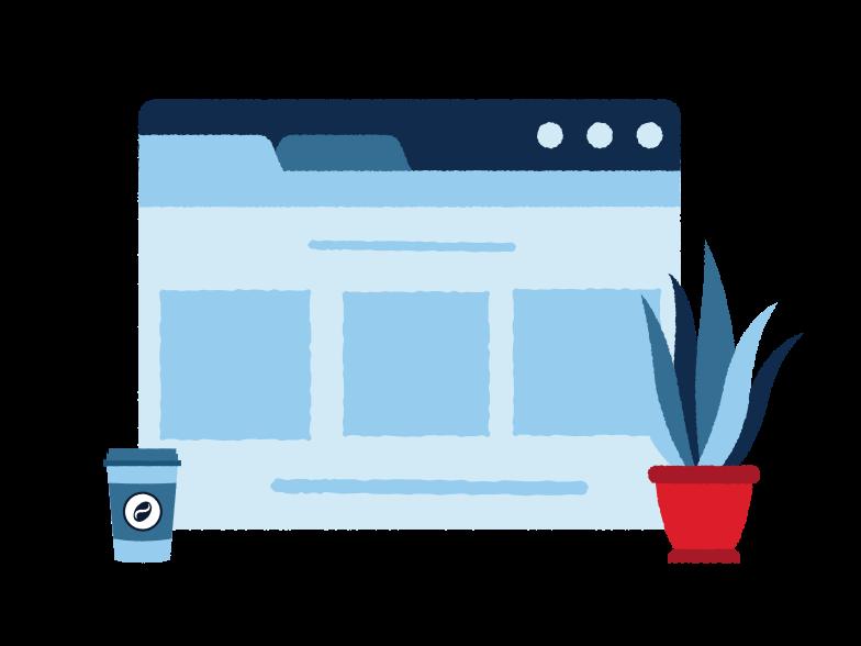 Online team meeting Clipart illustration in PNG, SVG
