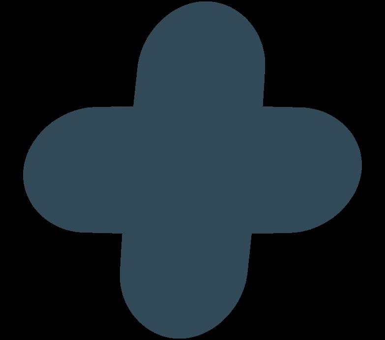 quatrefoil darl blue Clipart illustration in PNG, SVG
