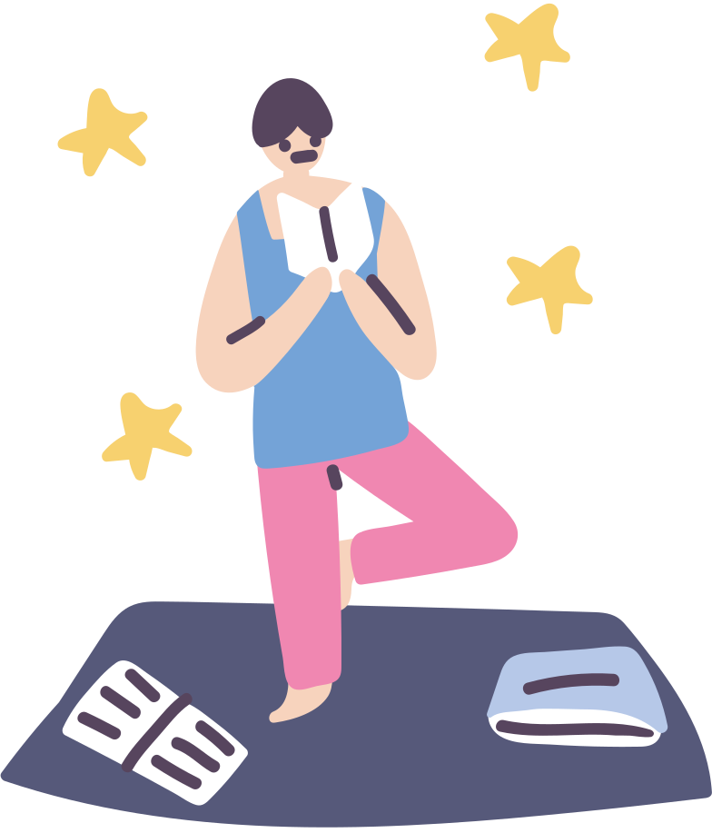 Sport, yoga, reading Clipart illustration in PNG, SVG