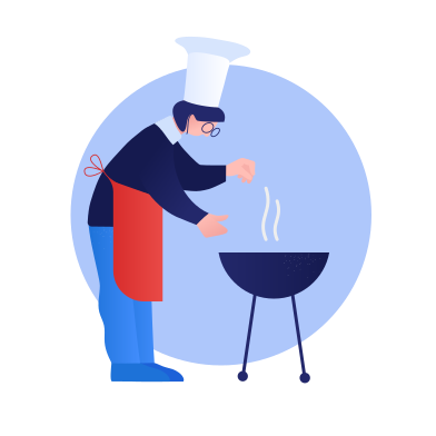 style Cooking with bbq images in PNG and SVG | Icons8 Illustrations