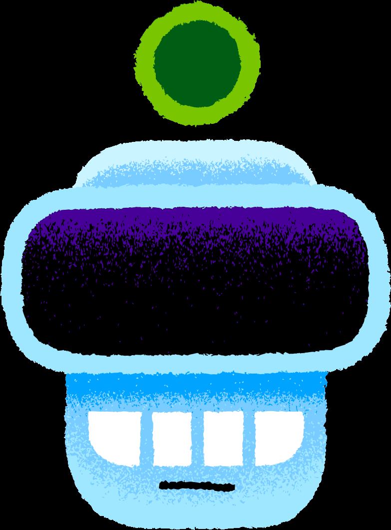 robot head Clipart illustration in PNG, SVG