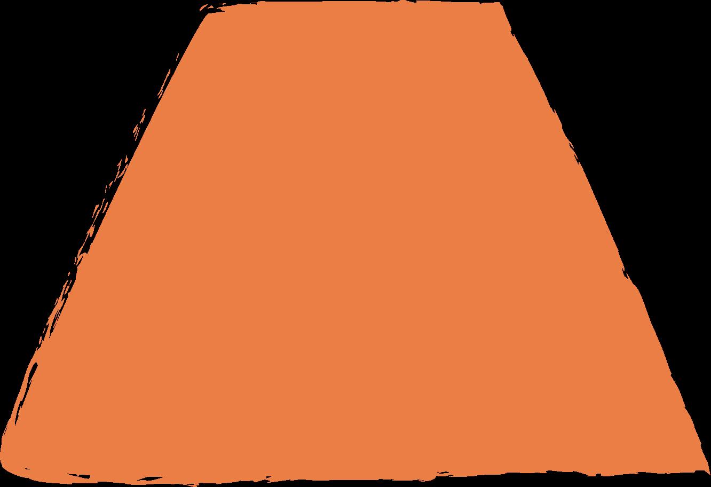 trapeze-orange Clipart illustration in PNG, SVG