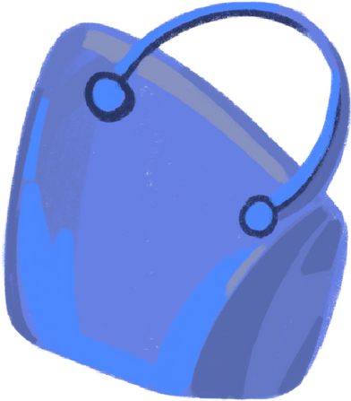 style bag blue images in PNG and SVG | Icons8 Illustrations