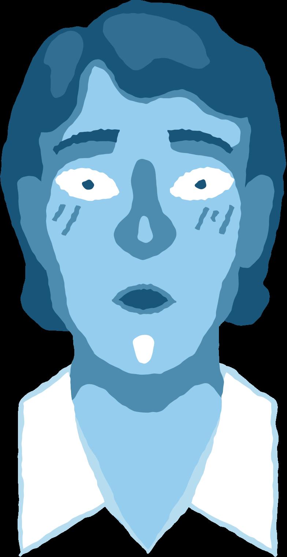 man head surprised Clipart illustration in PNG, SVG