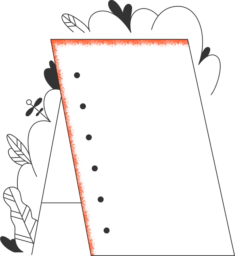 whiteboard with plants Clipart illustration in PNG, SVG