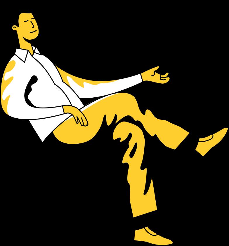 Vektorgrafik im  Stil sitzender mann als PNG und SVG | Icons8 Grafiken