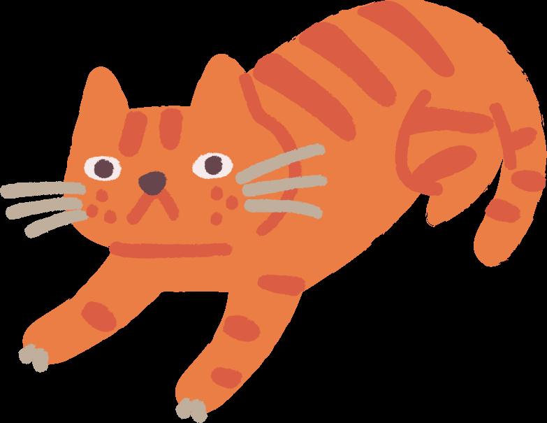 Katze lügt Clipart-Grafik als PNG, SVG