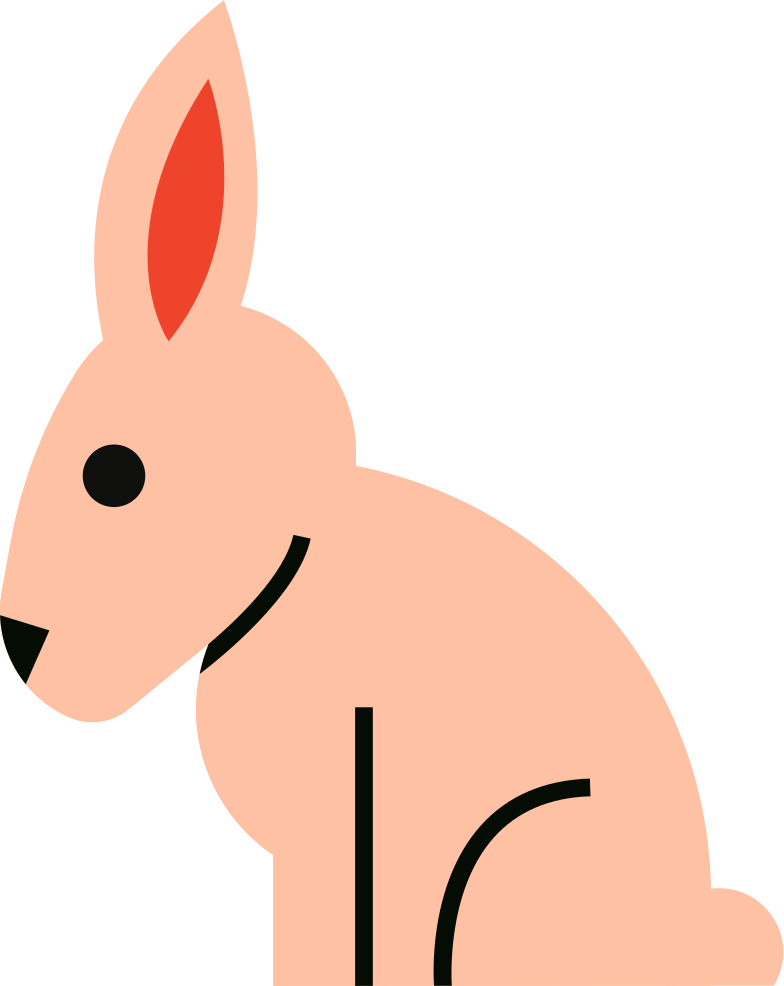 hare Clipart illustration in PNG, SVG