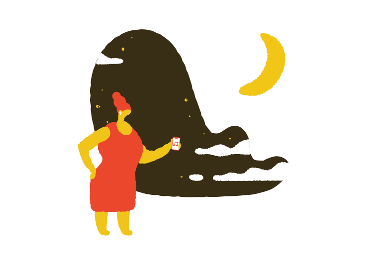Evening walk Clipart illustration in PNG, SVG