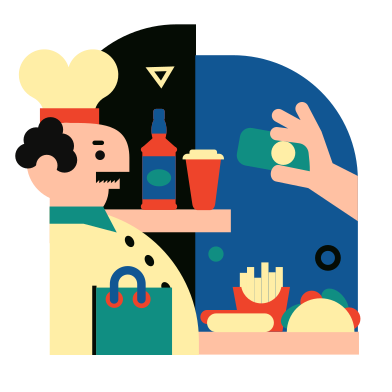 style Buying food images in PNG and SVG | Icons8 Illustrations