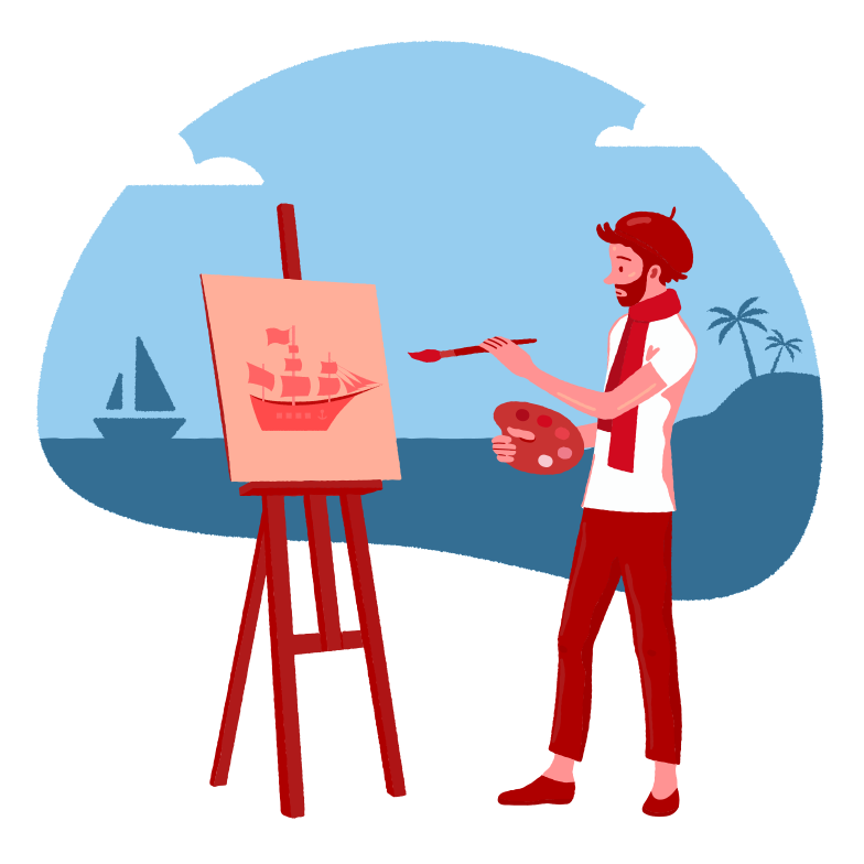 style Drawing near the sea Vector images in PNG and SVG | Icons8 Illustrations