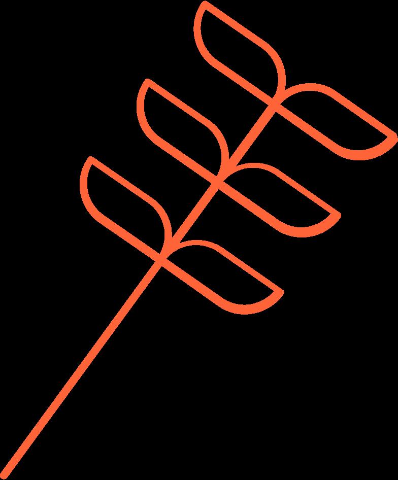 Esperando 3 folhas Clipart illustration in PNG, SVG